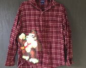 Donkey K*ng Button-down Flannel (adult med)