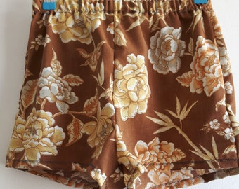 Vintage fabric cotton floral shorts