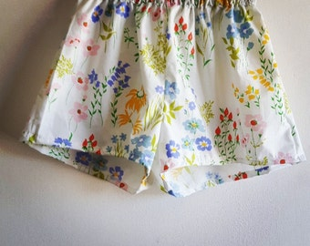 Vintage fabric cotton shorts xs to m