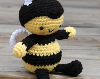 Bumble Bee Amigurumi, Amigurumi Bee, Insect Amigurumi, Insect Crochet, Crochet Bumble Bee, Crochet Toy Bee, Plush Bumble Bee, Honey Bee,