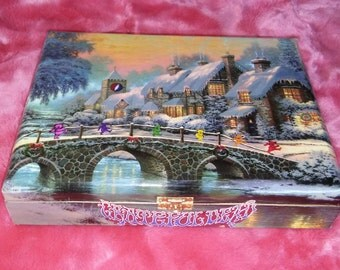 Christmas Bears Stash Box, Free Shipping, Grateful Dead Artwork