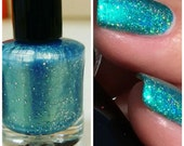 NEW Beautiful Mermaid: Custom Blended Holographic Glitter Nail Polish/ Indie Lacquer/Paris Sparkles