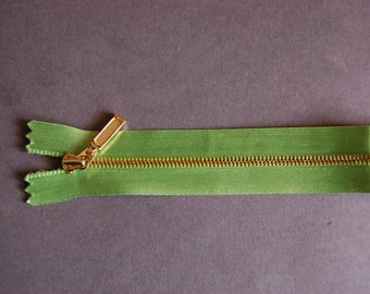 Green Closed Ended Zipper