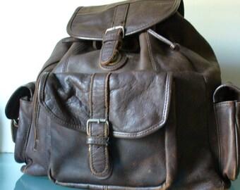 Vintage Pebbled Leather  Extra Large Backpack