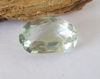 Natural Green Prasiolite 20x13mm Free Form Cut 15.95cts