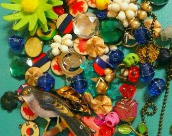 Craft Jewelry Bead Pendant Lot Miscellaneous Broken Re-purpose