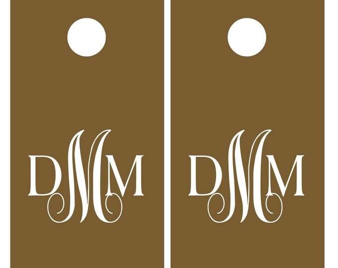 Wedding Monogram Vinyl Decal Set for Cornhole | Wedding Cornhole | Rustic Wedding