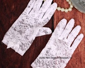 Tea Time White Lace Gloves