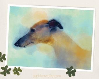 A Little Shy A5 Print Greyhound