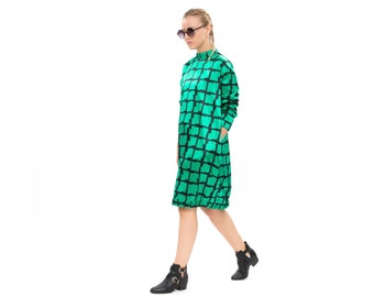 Green dress, Original dress, Vici dress, Sweatshirt Dress - everyday dress- Hoodie Dress - cool dress, timeless dress