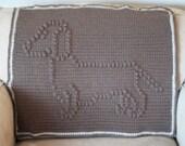 INSTANT DOWNLOAD - Dachshund Crochet Baby Blanket Pattern - Baby Blanket Pattern - Blanket Pattern