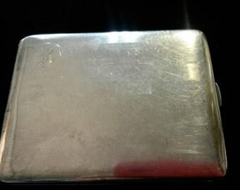Silver Cigarette Case * ca 1920s * monogram R