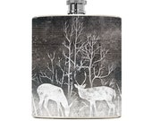 Deer Flask Drinking Gifts Mens Flask Womens Groomsmen Liquid Courage Hip Flask Wedding Stocking Stuffer Christmas Gifts Outdoorsy Outdoorman