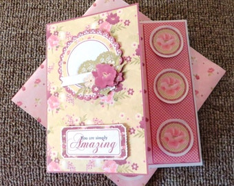 You are simply amazing birthday card with matching envelope.