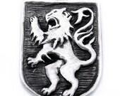 Medieval Lion rampant pendant
