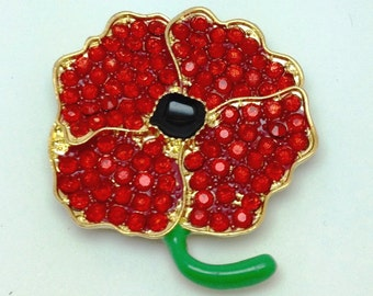 Needle Minder - Crystal Remembrance Poppy - POP0001R
