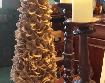 Rustic Burlap Christmas Tree
