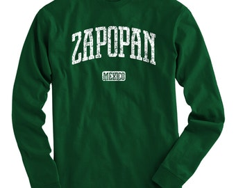LS Zapopan Mexico Tee - Long Sleeve T-shirt - Men and Kids - S M L XL 2x 3x 4x - Zapopan Shirt, Mexican, Jalisco - 4 Colors