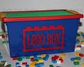 Personalized 5 qt Storage Case w/Building Plate - Building Blocks Birthday Gift - Kids Travel Activity - Ring Bearer Gift - Blocks Holder