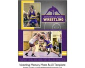 WRESTLING MM1 - 8x10 Memory Mate Sports Photo Template - Digital File