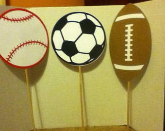 Cute Sports Theme Centerpiece Set of Three