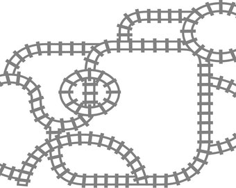 Wall decals- Train track- Vinyl wall decal train track decals - table decal