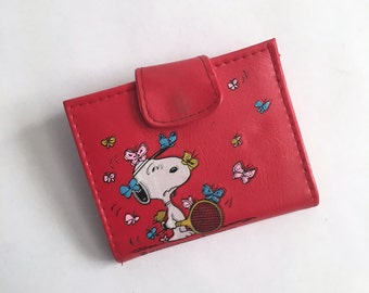 Vintage 1958 Snoopy and Woodstock Wallet - United Feature Syndicate Inc - Peanuts