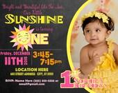 You are My Sunshine invitation Sunshine invite Sun invite 1st Birthday Girl invitation 1st birthday Girl invite Photo invitation picture