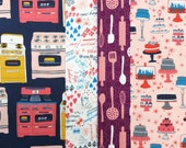 Baking Cooking Ovens Chef Fabric Fat Quarter Bundle - Bake by Julia Rothman for Windham Fabrics