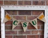 CSU Rams - CSU Banner - Colorado State - Dorm Room Decor - College Banner - Dorm Wall Art - CSU Graduation Party - Colorado State Rams