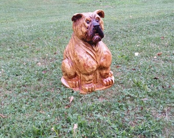 Chainsaw Carving Chainsaw Carved Bulldog