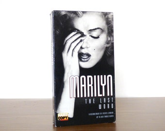 Marilyn The Last Word Vhs Movie Tape 1994 Monroe Video