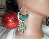Owl Earrings, Owl Jewelry, Owl Dangle Earrings,Woodland Owl Earrings, Long Dangle Earrings, Christmas Gift, Black Friday Sale, Cyber Monday