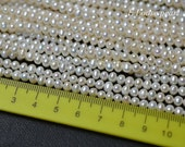 90%OFF Potato pearl 4.2-4.4mm ,Luster Freshwater pearl,Round pearl,natural white,Loose pearl, Necklace pearl Full Strand PL2314