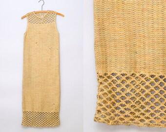 1920s Flapper Dress Crochet Knit Gatsby Dress