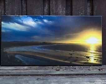 Jurassic Bay, Byron bay, Velociraptors .... beach walk!!, photography print on canvas