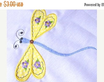 50% OFF SALE Dragonfly 03 Machine Applique Embroidery Design - 5x7