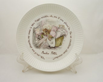 Wedgwood Beatrix Potter Mrs Tiggy-Winkle  Dish, Hedgehog Plate, Wedgwood