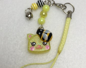 Cute Kawaii Honey Bee Kitty Cat Charm