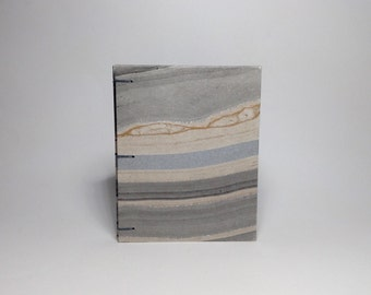 Made to Order - Small Silver and Gold Marbled Journal