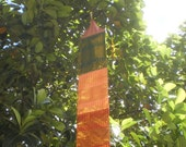 RESERVED FOR AKOSUA  Tribal Textile Hanging Decoration, Tung Decoration, Thai Decoration, Textile Mobile