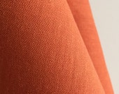 Organic Solid Fabric in Clementine from the Cirrus Solids Collection from Cloud9 Fabrics. - ONE  FAT QUARTER  Cut