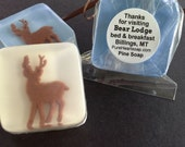 Deer Soap Favors, 12, Any Color Theme, Personalized Labels,  DIY clear favor bags & ribbons,