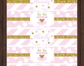 Tu-Tu or Tu-Two Ballet Birthday Water Bottle Labels