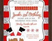 Christmas Birthday or Christmas Luncheon Invitation