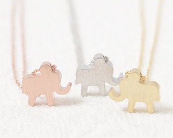 Elephant necklace - cute animal in SILVER - you are lucky