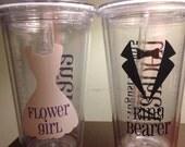 Ring bearer or flower girl acrylic tumbler