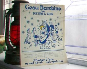 Vintage Sheet Music 1945 Gesu Bambino or Infant Jesus