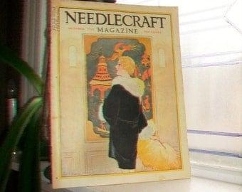1928 Needlecraft Magazine October Issue Vintage 1920s Sewing