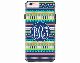 Custom iPhone 7 or iPhone 7 Plus Cases | Personalized Case Mate Tough or Barely There cases  - iPhone 6, iPhone 6 Plus, iPhone SE - Aztec